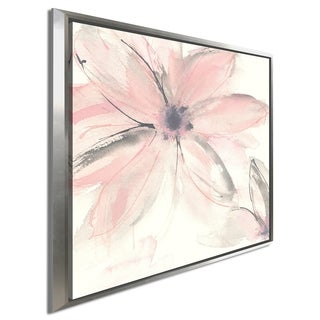 """Chris Paschke """"Blush Clematis II"""" Giclee Stretched Canvas Wall Art"""