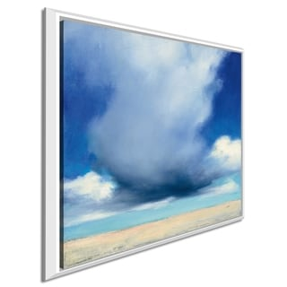 """Julia Purinton """"Beach Clouds I"""" Giclee Stretched Canvas Wall Art"""