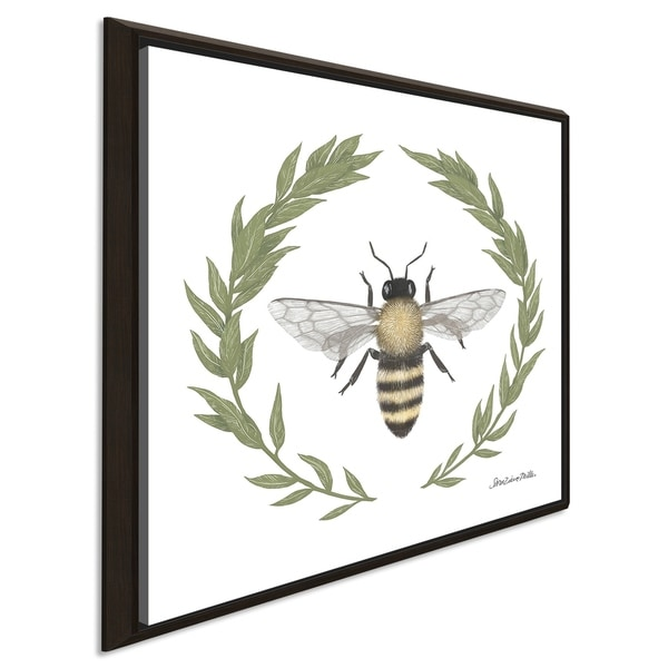 """Sara Zieve Miller """"Happy to Bee Home I"""" Giclee Stretched Canvas Wall Art"""