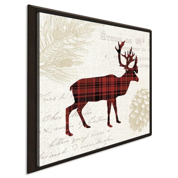 """Plaid Lodge I"" Giclee Stretched Canvas Wall Art"