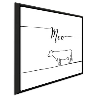 """Veronique Charron """"Underlined Farm VII"""" Giclee Stretched Canvas Wall Art"""
