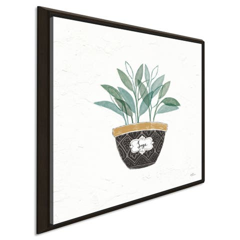 """Janelle Penner """"Fine Herbs VII"""" Giclee Stretched Canvas Wall Art"""