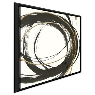 """Chris Paschke """"Gilded Enso II"""" Giclee Stretched Canvas Wall Art"""