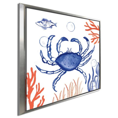 "Farida Zaman ""Coastal Jewels V"" Giclee Stretched Canvas Wall Art"