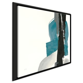 """Link to Chris Paschke """"Black and Teal I"""" Giclee Stretched Canvas Wall Art Similar Items in Canvas Art"""