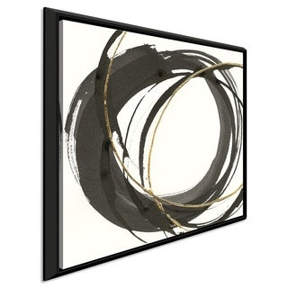 """Chris Paschke """"Gilded Enso I"""" Giclee Stretched Canvas Wall Art"""