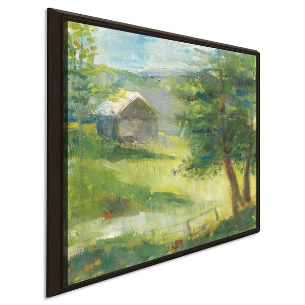 """Sue Schlabach """"Gray Barn"""" Giclee Stretched Canvas Wall Art"""
