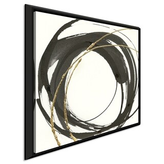 """Chris Paschke """"Gilded Enso IV"""" Giclee Stretched Canvas Wall Art"""