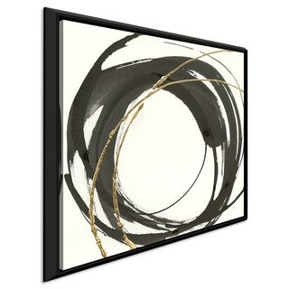 """Chris Paschke """"Gilded Enso IV"""" Giclee Stretched Canvas Wall Art (4 options available)"""