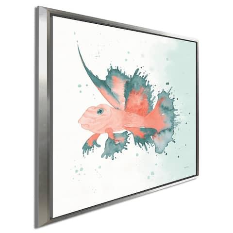 "Elyse DeNeige ""Splash VI"" Giclee Stretched Canvas Wall Art"