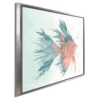 "Elyse DeNeige ""Splash V"" Giclee Stretched Canvas Wall Art"
