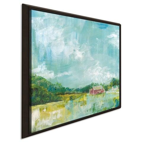 "Sue Schlabach ""Horizon Farm"" Giclee Stretched Canvas Wall Art"