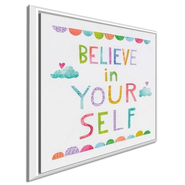 "Melissa Averinos ""Unicorn Magic VI Clouds"" Canvas Print in Floating Frame"