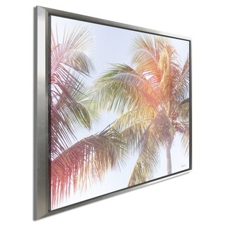 "Sue Schlabach ""Dream Palm III"" Giclee Stretched Canvas Wall Art"