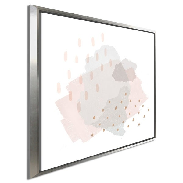 """Moira Hershey """"Lovely Blush III"""" Giclee Stretched Canvas Wall Art"""