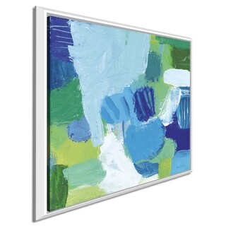 "Farida Zaman ""Mountain Reflection I"" Giclee Stretched Canvas Wall Art"