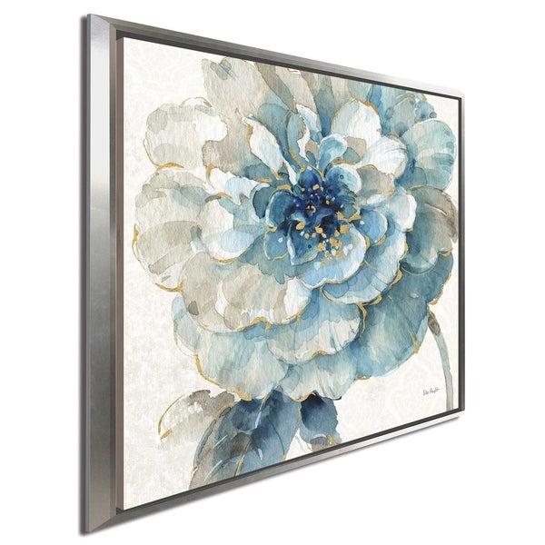 """Lisa Audit """"Indigold VII"""" Canvas Print in Floating Frame"""