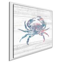 """Sarah Adams """"Ocean Life I"""" Giclee Stretched Canvas Wall Art"""