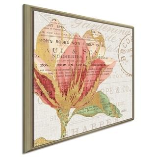 "Katie Pertiet ""Bookshelf Botanical III"" Canvas Print in Floating Frame"