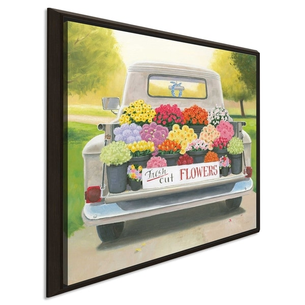 """James Wiens """"Beautiful Country III Square"""" Canvas Print in Floating Frame"""