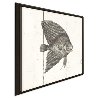 """""""Fish Sketches III Shiplap"""" Giclee Stretched Canvas Wall Art"""