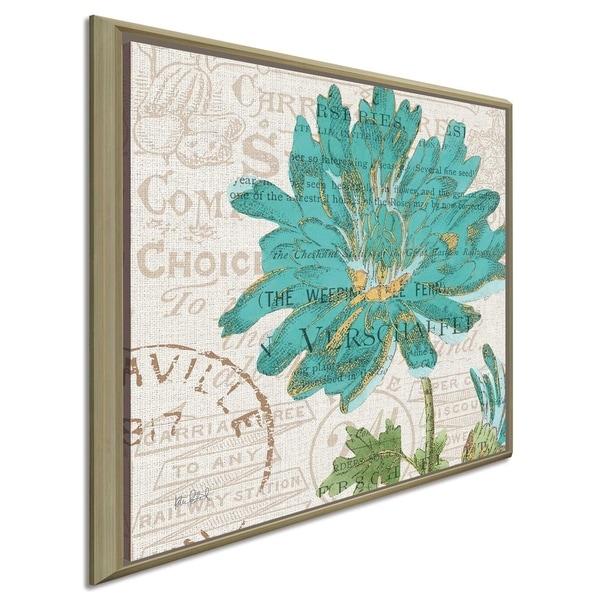 "Katie Pertiet ""Bookshelf Botanical IV""Canvas Print in Floating Frame"