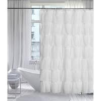 "Ruffled Shower Curtain White 70"" wide x 72"" long"