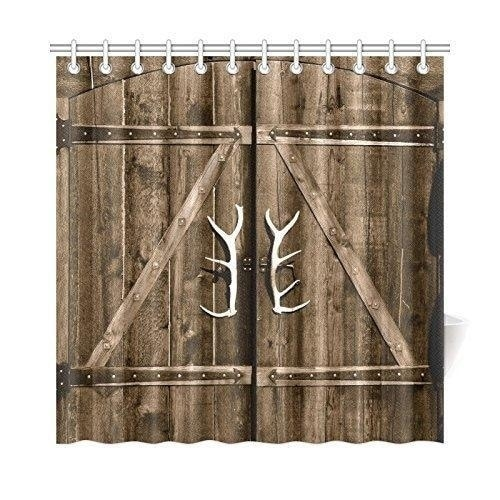 Wooden Garage Barn Door Shower Curtain (72\'\' X 72\'\') - Free Shipping ...