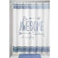 "Fabric Shower Curtain, 72"" x 72"" - Blue/White"