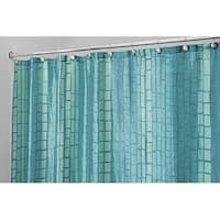 "Stripe Fabric Shower Curtain, 72"" x 72"", Aquamarine Blue/Green"