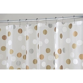Metallic Dot PEVA Shower Curtain
