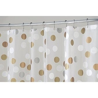 Shop Metallic Dot PEVA Shower Curtain