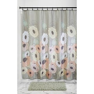 """Daisy Fabric Shower Curtain - 72"""" x 72"""", Pastel Multi Color - N/A"""