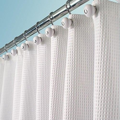 Polyester/Cotton Blend Fabric Shower Curtain, 72\