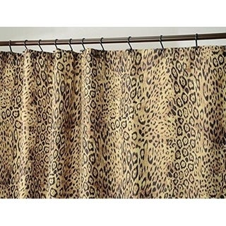 "Cheetah Print Fabric Shower Curtain - 72"" x 72"", Brown"