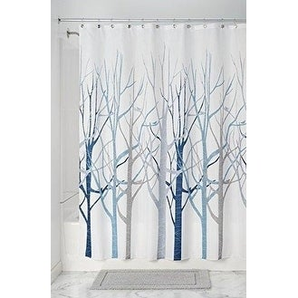 Forest Fabric Shower Curtain For Bathroom