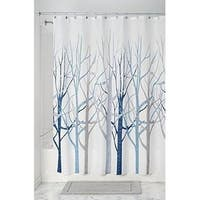 """Forest Fabric Shower Curtain for Bathroom - 72"""" x 72"""", Blue/Gray"""
