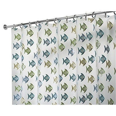 PVC Free PEVA Fish Fabric Shower Curtain
