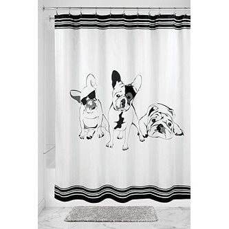 Shop French Bulldog Fabric Shower Curtain 72 X