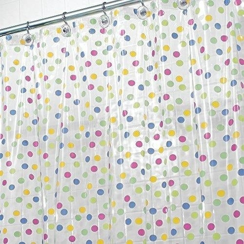 Polka-Dot Shower Curtain, 72 x 72-Inches, Multi-Colored - N/A - Free ...