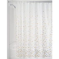 Decorative PEVA 3G Shower Curtain Liner 72 X 72Silver Gold