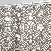 """Medallion Fabric Shower Curtain - 72"""" x 72"""", White/Taupe"""