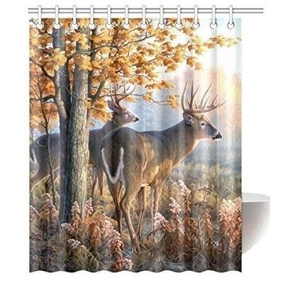 Shop Deer Waterproof Polyester Fabric Shower Curtain