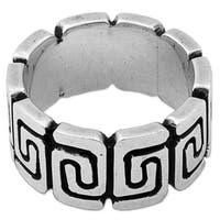 Handmade Sterling Silver 'Zapotec Spirals' Ring (Mexico)