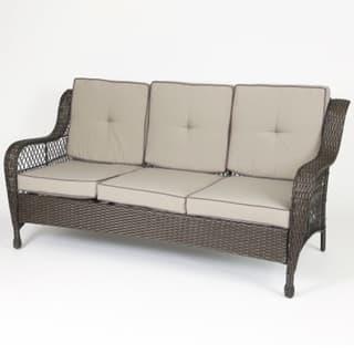 Shop Set of 6 Plastic Wicker Sofa Set - Free Shipping Today ...