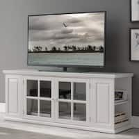 Cottage White 62 Inch TV Stand with Bookcase Ends