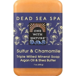 One With Nature 7-ounce Sulfur & Chamomile Dead Sea Spa Bar Soap