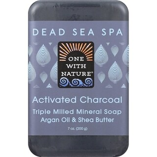 One With Nature 7-ounce Activated Charcoal Dead Sea Spa Bar Soap