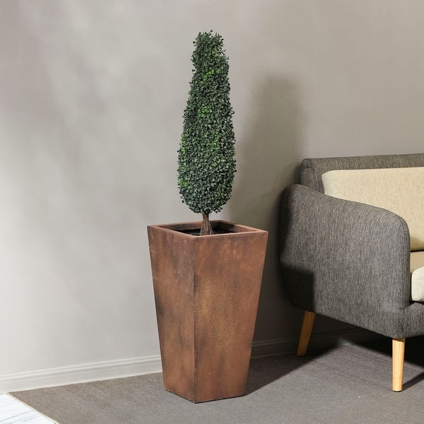 Shop Classic Bronze Tall Angled Planter On Sale Ships To Canada