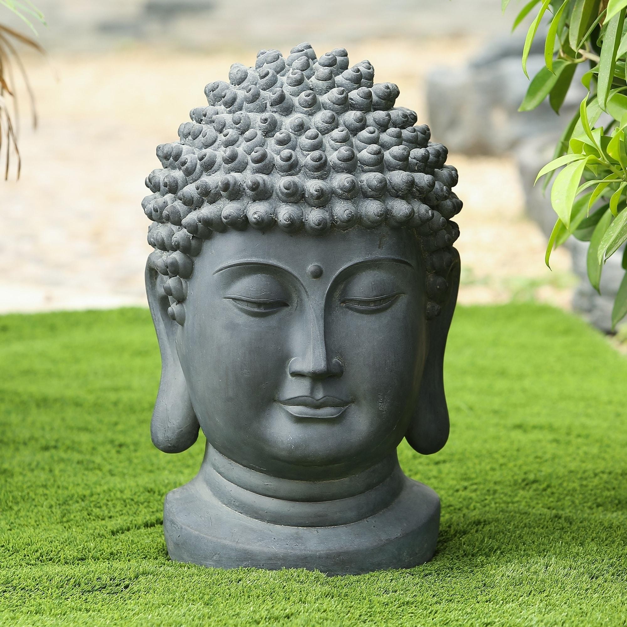 Buddha Head Garden Outdoor Statue Overstock 20463704